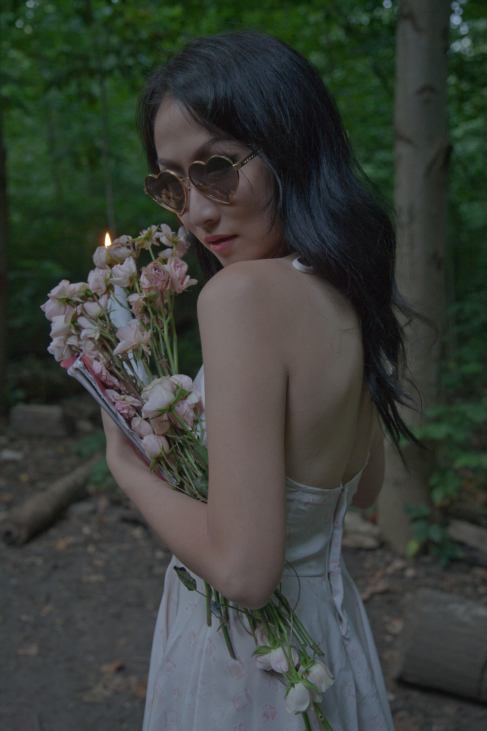 made-in-NYC loungewear by she and reverie ~ Rose Petal Witch