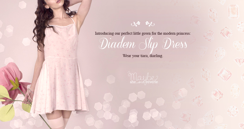 our modern princess gown: the diadem slip dress