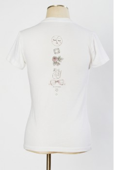 SAMPLE SALE ~ Medallion Spine Tee, size XS