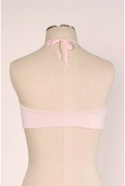 SAMPLE SALE ~ Clamshell Bralette in candy floss, size S