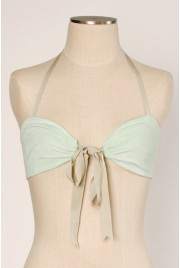 Clamshell Bralette in pale clover