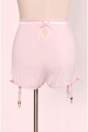 SAMPLE SALE ~ Garter Shorts in candy floss, size S (no garters)