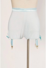 SAMPLE SALE ~ Garter Shorts in fragonard blue, size M