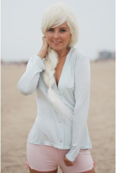 SAMPLE SALE ~ Venice Cardigan in fragonard blue, size S