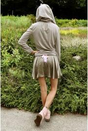 SAMPLE SALE ~ Ballet Miniskirt in mocha dot, size S