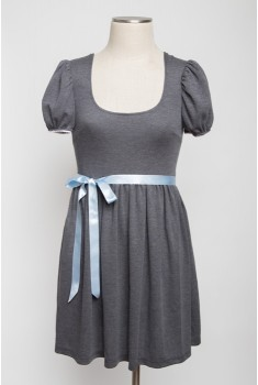 Trianon Gardens Dress in mascara grey