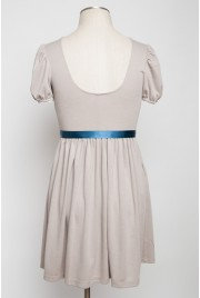 SAMPLE SALE ~ Trianon Gardens Dress in earl grey creme, size S