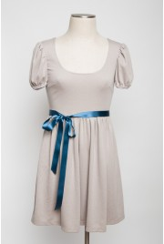 Trianon Gardens Dress in earl grey creme