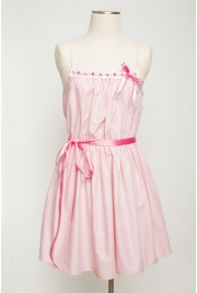 Meringue Babydoll Dress in chiffon rose