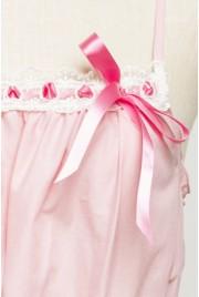 Meringue Babydoll Dress in chiffon rose