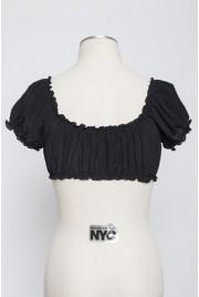 Sixties Sun Top in velvet black