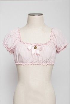 Sixties Sun Top in cameo pink