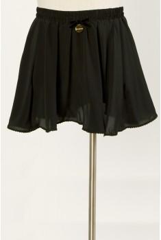 Ballet Miniskirt in velvet black