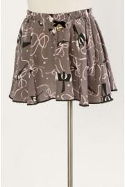 Ballet Miniskirt in magpie print
