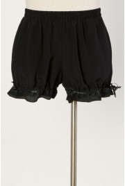Bloomer Shorts in velvet black