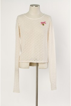 Fireplace Pullover in pearl