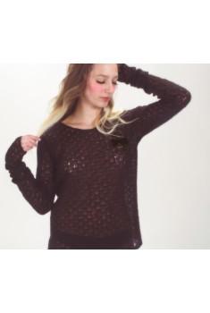 SAMPLE SALE ~ Fireplace Pullover in velvet black, size S (sample fabric)