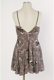 Odette Slip Dress in magpie print
