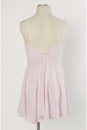 Odette Slip Dress in cameo pink