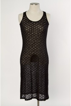 Saltwater Tank Dress in velvet black