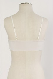 SAMPLE SALE ~ Scallop Bralette in pearl, size S