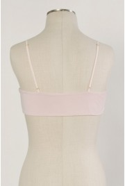 Scallop Bralette in cameo pink